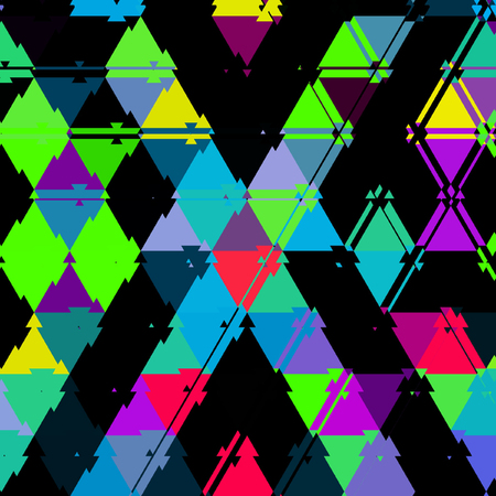 colorful vivid triangles continuous pattern.