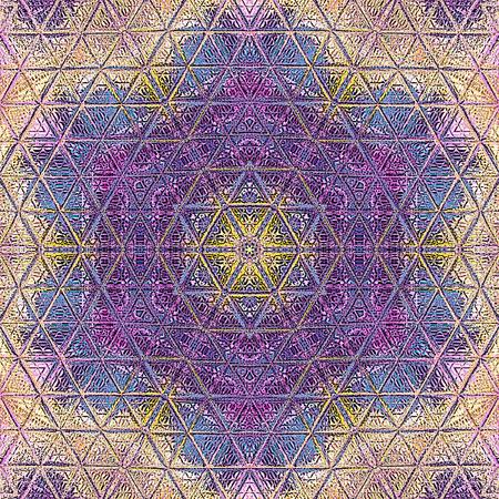 Indian abstract ornament, colorful mandala