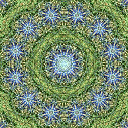 Mandala circular abstract pattern colorful floral kaleidoscopic image background