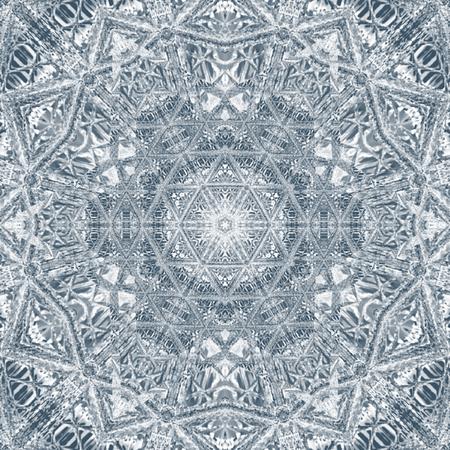 Mandala geometric round monochrome ornament