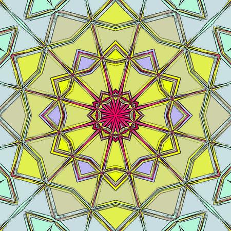floral mandala in indian style. Mehndi ornamental background Stock Photo