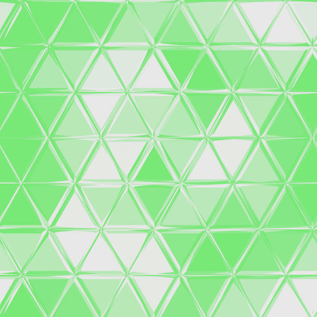 continuous pattern of small triangles in white and green colors