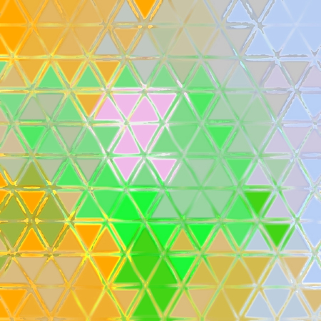 Small orange and green colored triangles continuous pattern Stock Photo
