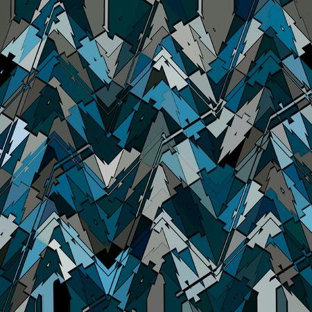 blue triangle irregular patchwork pattern