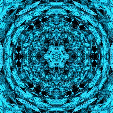 Blue triangle tile arabesque for rug and carpet Stok Fotoğraf