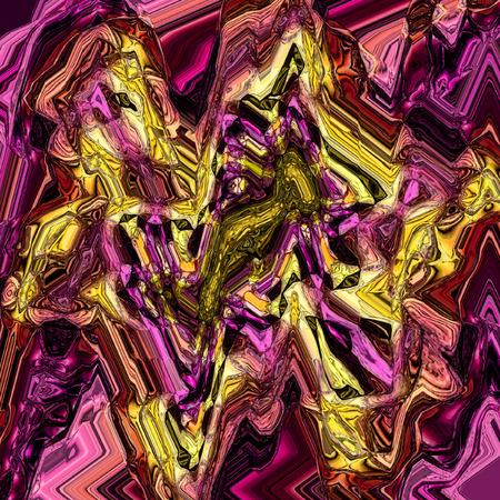 Vintage zigzag pattern with grunge effect