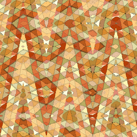 orange triangles zigzag pattern for print Stock Photo