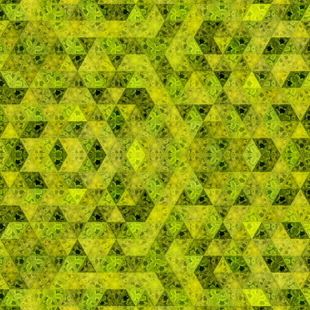 yellow and khaki triangles pattern in continuous mosaic Imagens