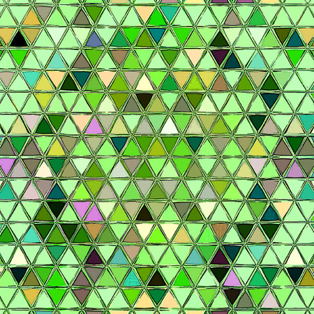 triangles little mosaic tile in green and white