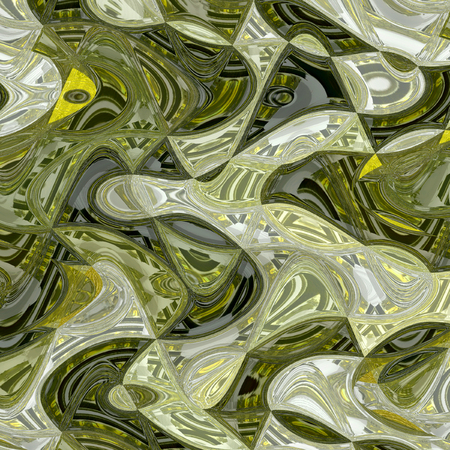 liquide watercolor pattern in khaki and ocher for print Banque d'images - 111950206