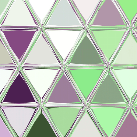 facet triangles mosaic in purple and light green