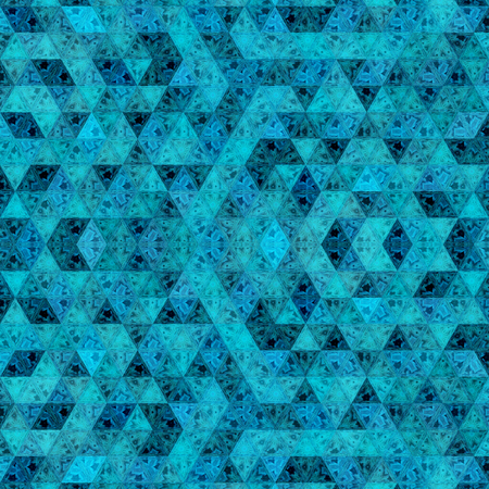 triangles in neon blue color, modern background and print textile Imagens