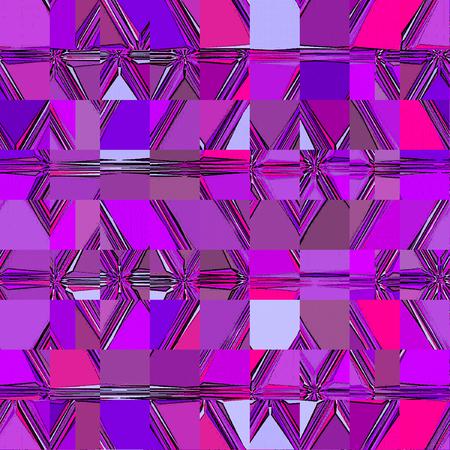 violet and purple squares elements continuous mosaic Imagens