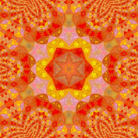 Flower mandala. Round ornament pattern. Vintage style.