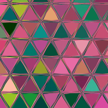 vivid pink, orchid, fucshia and teal mosaic background pattern
