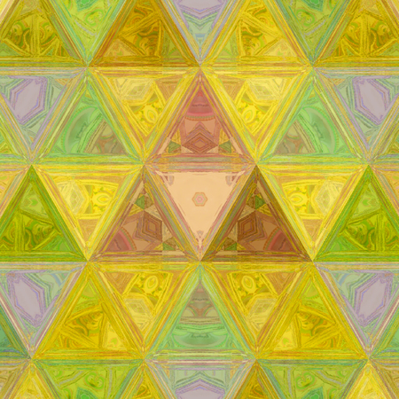 Modern geometric triangles texture. Mosaic colorful grid Imagens - 120001959