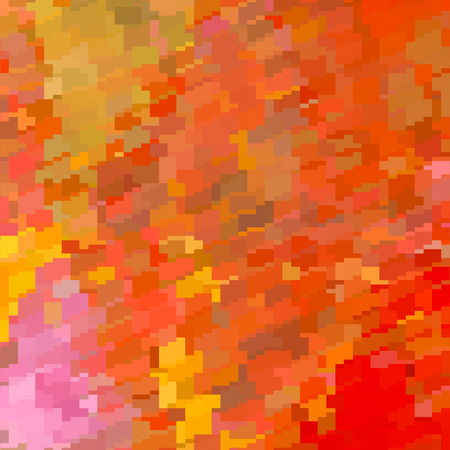 Banner background in red and orange mosaic . Фото со стока