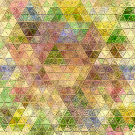 Mosaic of colorful triangles in modern style. Background pattern. Standard-Bild