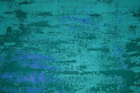 Creative teal, sea-green and teal shabby timber plank texture Reklamní fotografie