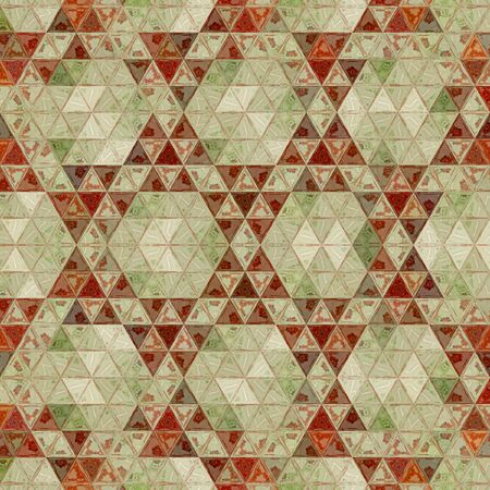 tribal continuous geometric pattern with triangles mosaic for textile, rug or carpet print