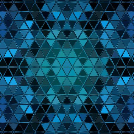 Abstract geometric mosaic Pattern with Triangles in blue color
