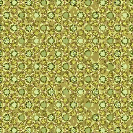 Continuous  yellow and gold swirls floral wallpaper