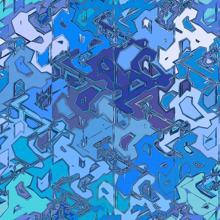 Blue Ice mosaic Abstract Background Design Template.