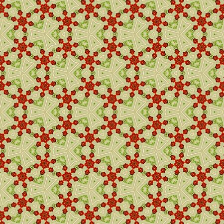 continuous pattern in victorian style with roses Banque d'images - 128235243