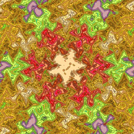 Ethnic colorful textile graphic. Zigzag in abstract style and bright colors.