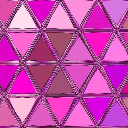 Polygonal shapes background, low poly triangles mosaic in pink, orchid and fuchsia colors Reklamní fotografie