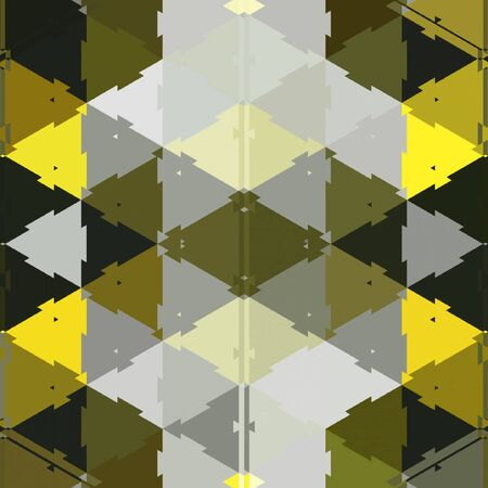 Triangular business wallpaper in continuous. Geometric print in yellow and black elements