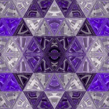 Abstract transparent pattern with triangles in ultraviolet. Reklamní fotografie