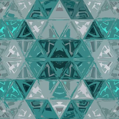 Contemporary teal pattern in glass. Geometric triangle. Gradient futuristic shapes. Reklamní fotografie