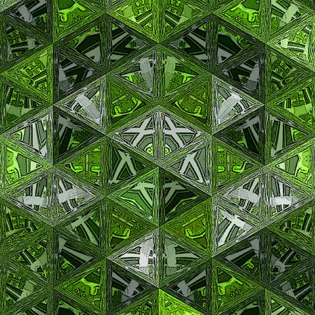 Random triangles on a green background with transparent effect