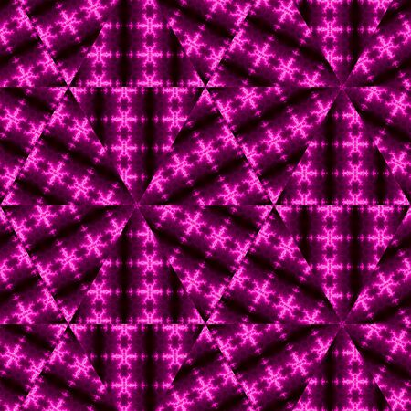 Abstract low-poly triangular modern geometric hi-tech background in pink and purple on dark background Reklamní fotografie