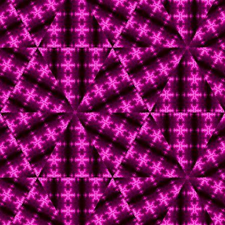 Abstrait de haute technologie géométrique moderne triangulaire low-poly en rose et violet sur fond sombre Banque d'images