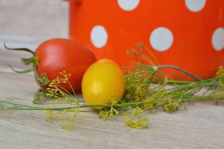 Italian cuisine. Organic food: fresh cherry tomatoes. Healthy food.