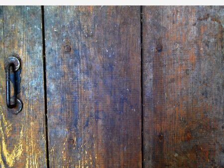 Rusty Wooden grunge planks, old aged background Stockfoto