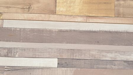 Planks with cracked color paint in white, beige and grey color Stockfoto - 132605859