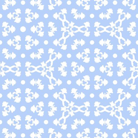 Continuous white abstract elements located on blue sky pastel background.