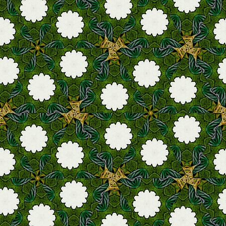 Green continuous floral pattern. Useful for texture print and artistic compositions. Stockfoto - 133082118