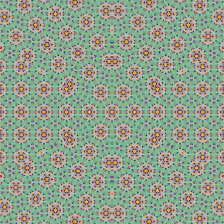 Green mint and turquoise oriental carpet pattern background Stock Photo