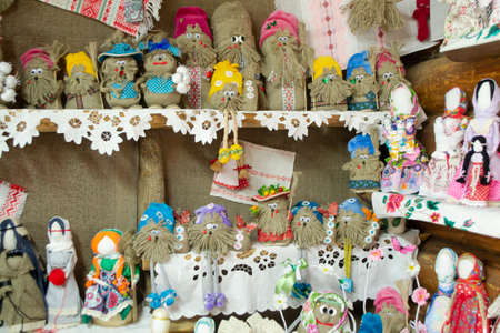 Doll motanka girl - an ancient amulet for protection against magic. Handmade textile doll, ethnic toys. Belarus