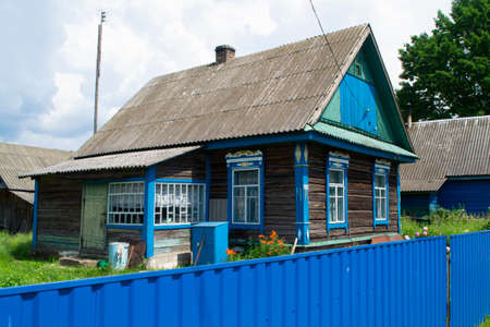 A typical village house in the countryside of Belarus