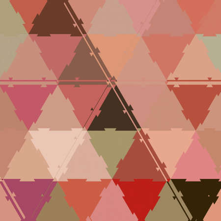 Abstract low poly geometric background with triangles in living coral colors. Mosaic continuous pastel texture. Archivio Fotografico