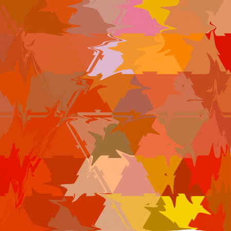 low poly polygonal pattern autumn maple abstract leaves continuous texture