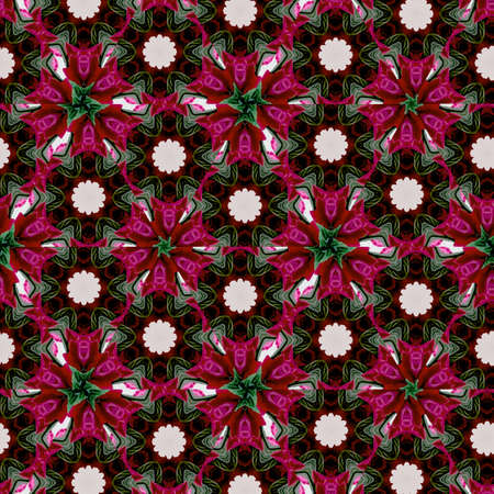 Retro pattern of geometric shapes in continuous mosaic of wine color. Geometric hipster retro triangles background Archivio Fotografico