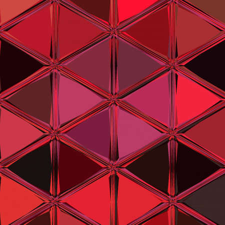 Red continuous triangles background. Like lava, fire, sparks, solar prominences, fire particles, bubbling incandescent metal Stock Photo
