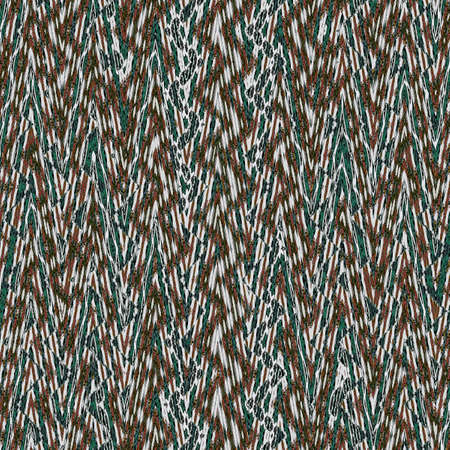retro chevron pattern in teal, brown and green spruce. repeating zigzag pattern background