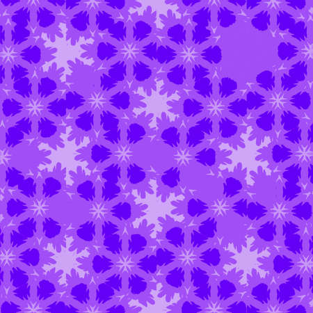 Christmas continuous tile violet and purple background for holiday design with stars and snowflakes